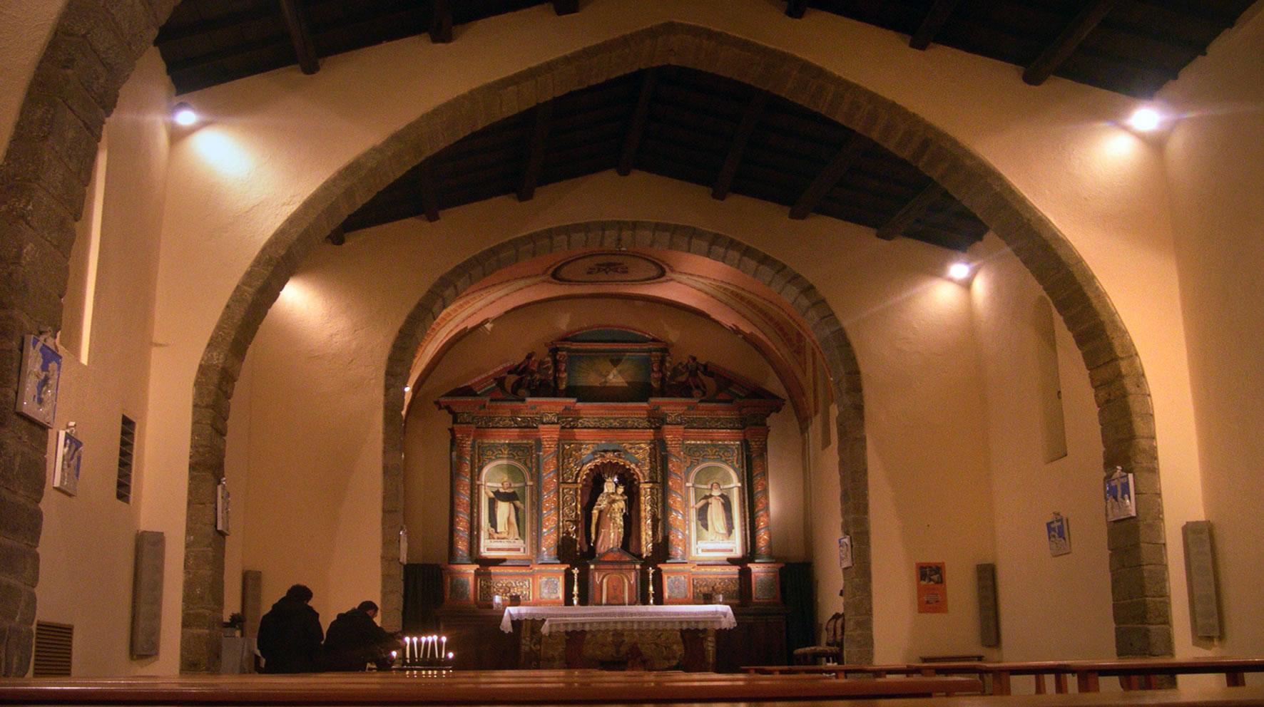 interno Oratorio del Rosario, Tempio Pausania