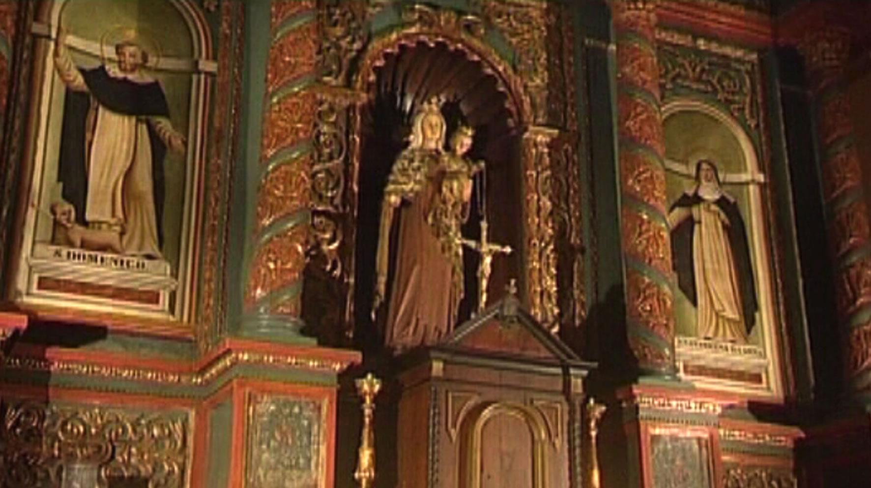 altare Oratorio del Rosario, Tempio Pausania