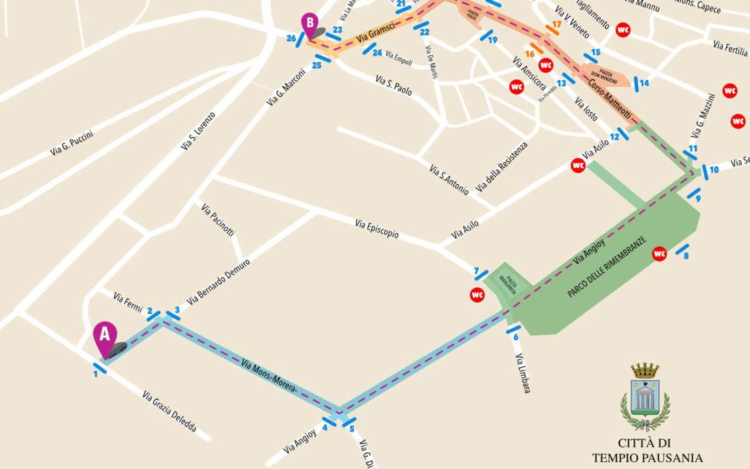 La mappa guida per gli spettatori – Carrasciali Timpiesu 2018