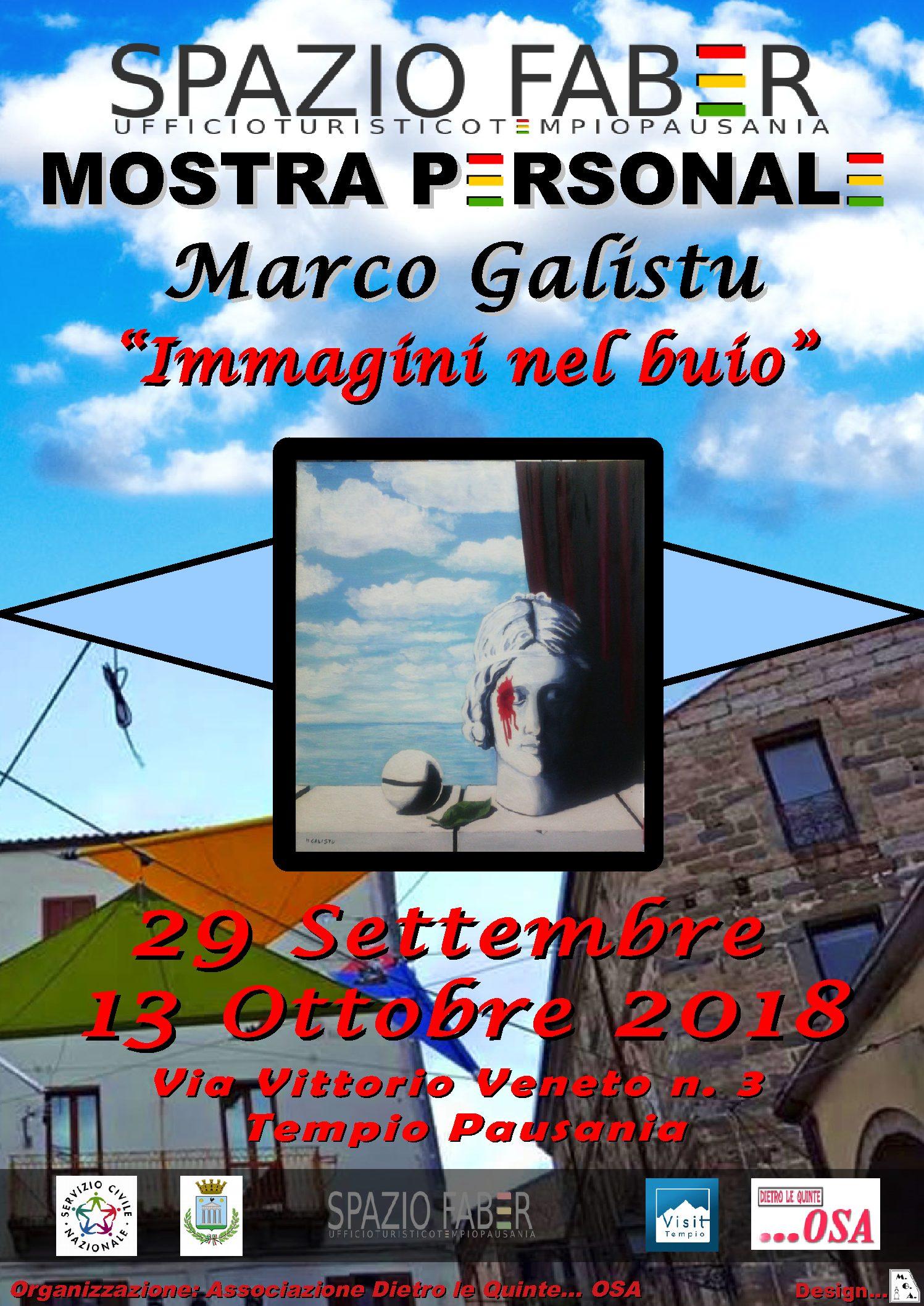 Esposizione di Marco Galistu. Dal 29 settembre al 10 ottobre.
