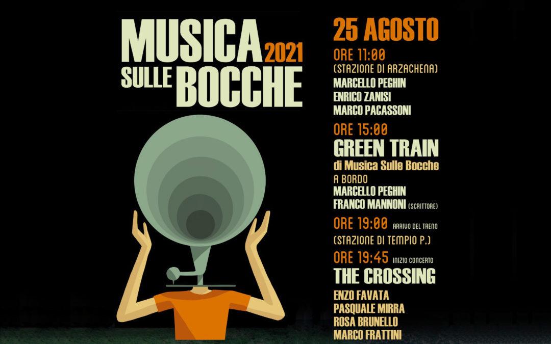 """IL 25 AGOSTO IL JAZZ DI """"MUSICA SULLE BOCCHE"""" ARRIVA A TEMPIO SUL TRENINO VERDE"""